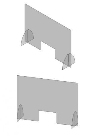 Balie scherm Plexiglas