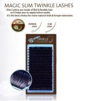 Neicha Premium Slim Lashes C curl 0.15  zijn glanzende wimperextensions en plat ipv rond, waardoor je een veel beter hechting kr