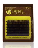 Neicha Dark brown C curl 0.20 mix wimperextensions in een handig kleine tray