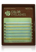 Neicha Color Lashes bluegreen C krul, mooie wimperextensions om een super gave look te creeëren