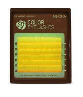 Neicha Color Lashes Yellow C krul, mooie wimperextensions om een super gave look te creeëren