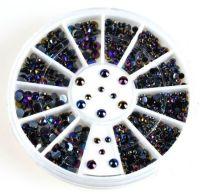 zwarte strass wheel
