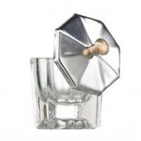 BL Dappendish glas met metalen deksel