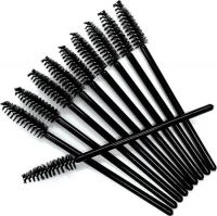 Mascara borsteltjes Zwart (50 stuks)