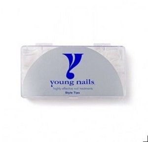 Young nails tip clear curve 500 master pack